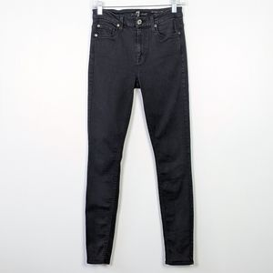 7 for All Mankind The High Waist Skinny Black